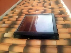 ventana en el techo