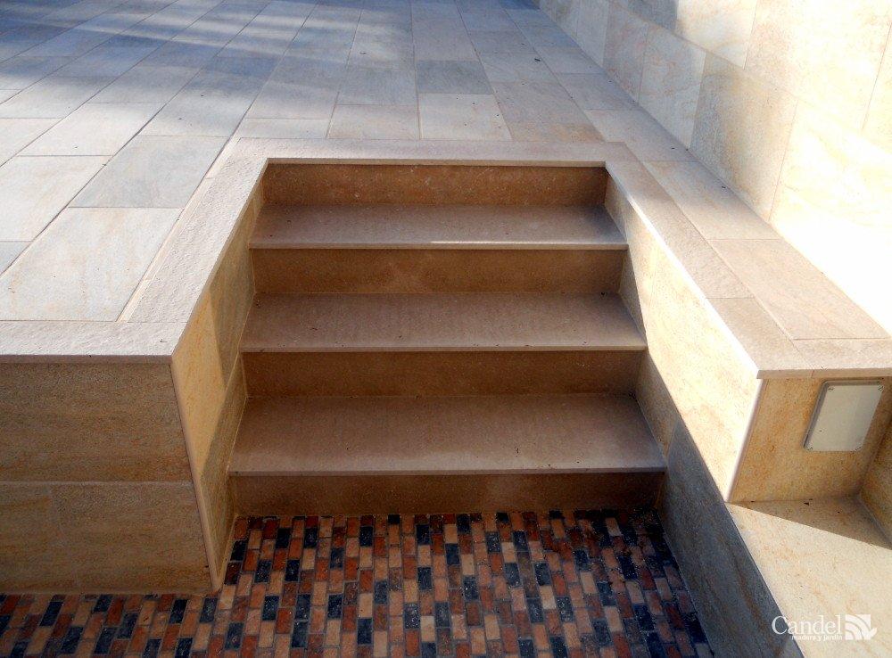 Escalones de m rmol candel madera y obra - Escalones de piedra ...