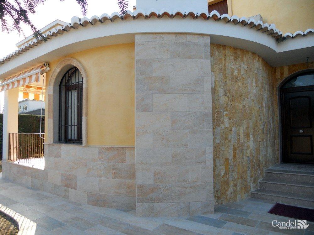 Porches De Madera Y Piedra