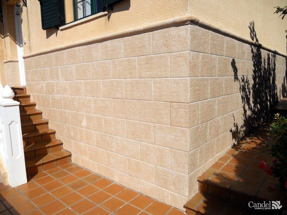 Chapado de fachada candel madera y obra - Placas de piedra artificial ...
