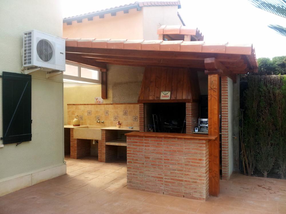 Porche madera candel madera y obra - Maderas para exterior precios ...