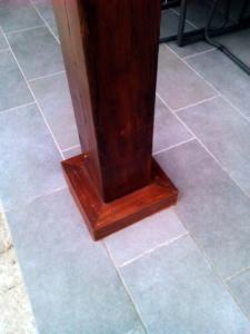 ejemplo de porche de madera y obra