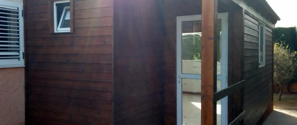 habitaciónes de madera y obra