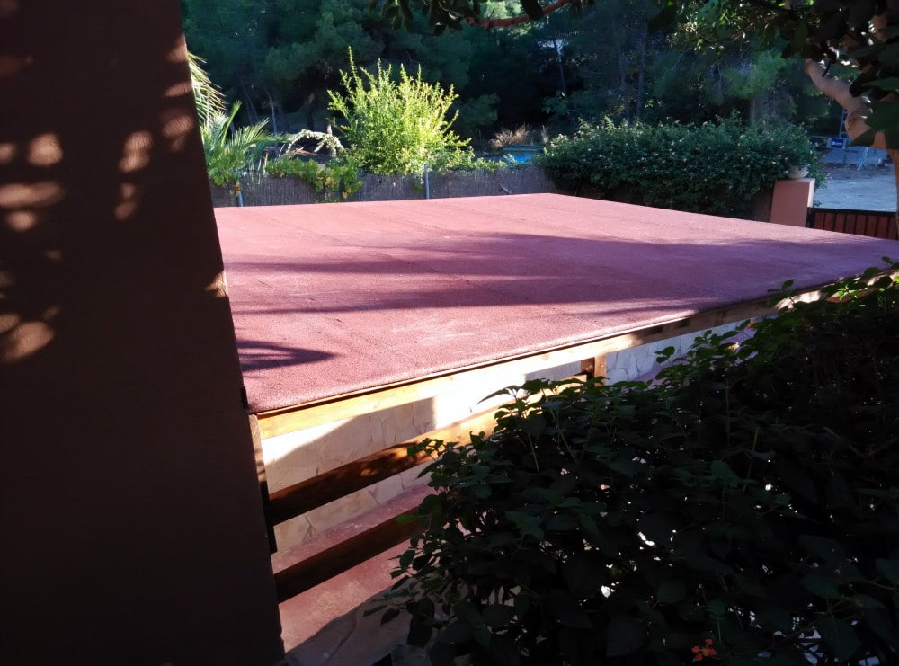porches de madera sin columnas