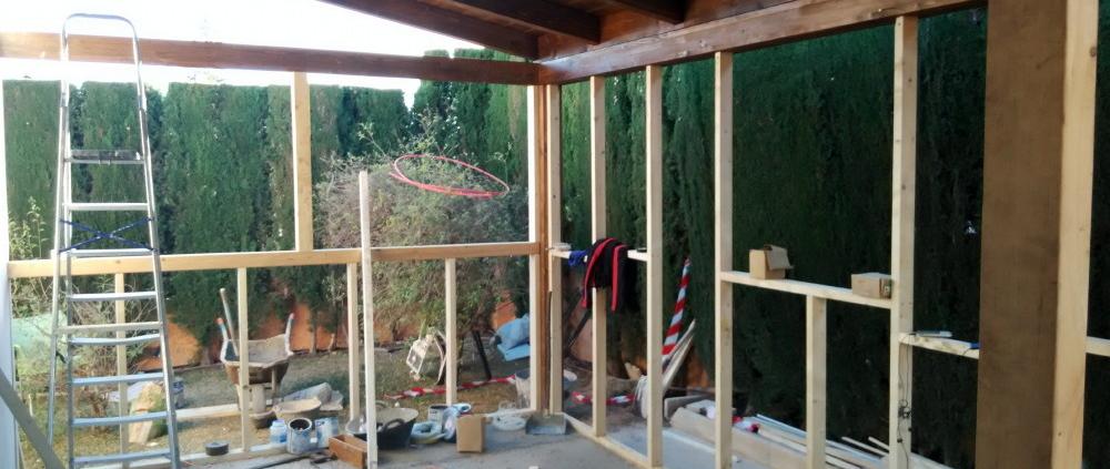ampliación casa con madera