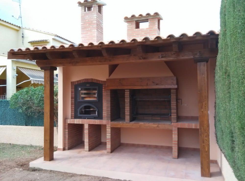 Porche horno barbacoa candel madera y obra - Porches con barbacoa ...