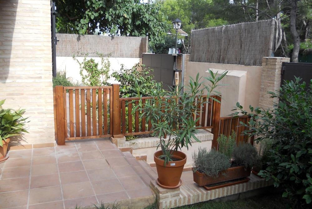 Vallas madera para jardin stunning valla de madera with for Vallas de madera para jardin