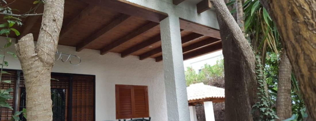 terraza techo machihembrado