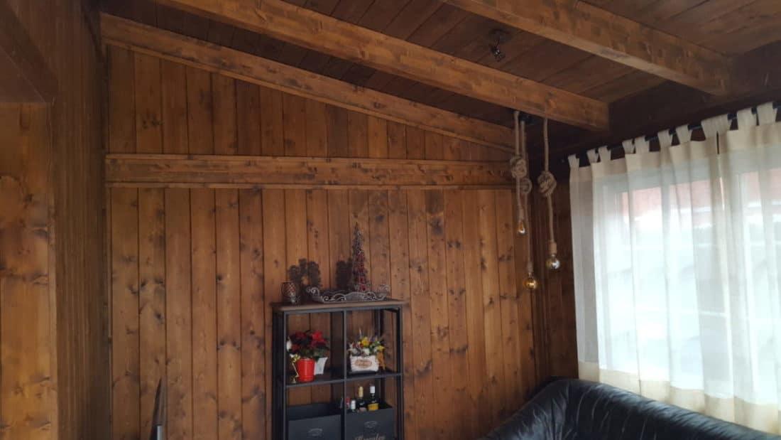 Ampliacion del comedor en madera