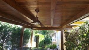 Porche de madera-garaje 2