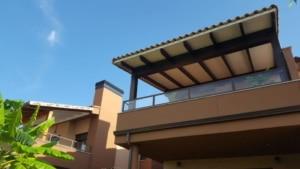 Porche de madera en ático y terraza 2